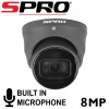 8MP SPRO 4K UHD OUTDOOR AUDIO CAMERA GREY