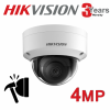4CH HIKVISION 4MP IP POE SYSTEM NVR 2X 3X 4X VANDAL PROOF DOME 4MM EXIR CAMERA KIT