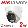 2MP 1080P HIKVISION COLORVU DOME 3.6MM 20M 4 IN 1 COLOURVU DS-2CE72DFT-F