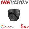 5MP HIKVISION COLORVU TURRET BLACK 2.8MM 24HR COLOUR COLOURVU DS-2CE72HFT-F28