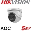 5MP HIKVISION DOME 2.8MM 30M IR AOC AUDIO OVER COAX DS-2CE76H0T-ITMFS
