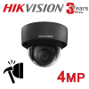 8CH HIKVISION 4MP IP POE SYSTEM NVR VANDAL PROOF GREY DOME 2.8MM EXIR 8X CAMERA KIT