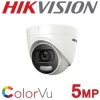 5MP HIKVISION COLORVU TURRET 2.8MM 24HR COLOUR COLOURVU DS-2CE72HFT-F28
