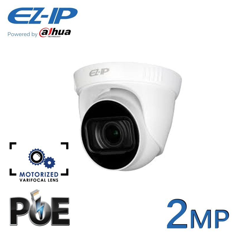 2MP EZ-IP POE IP DOME CCTV CAMERA MOTORISED VF VARIFOCAL POWERED BY DAHUA