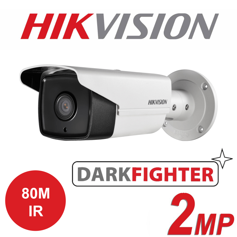 2MP 1080P HIKVISION DARKFIGHTER IP PoE BULLET 80M IR CAMERA DS-2CD2T25FWD-I8-4MM