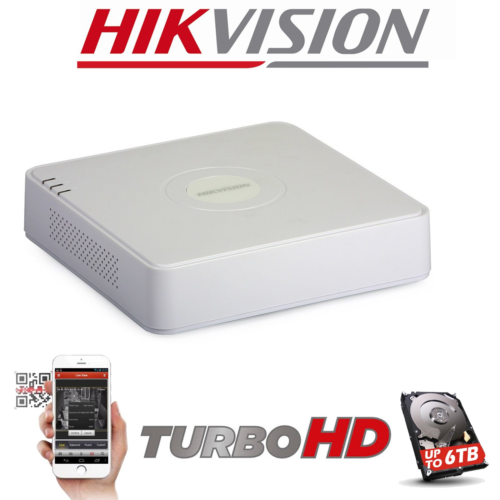 4CH HIKVISION DVR HDMI TURBO 1080P DS-7104HQHI-K1