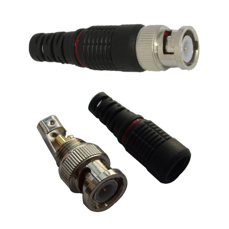 CCTV BNC COAXIAL SCREW ON BNC MALE FOR HD TVI, AHD AND CVI CAMERAS 1080P