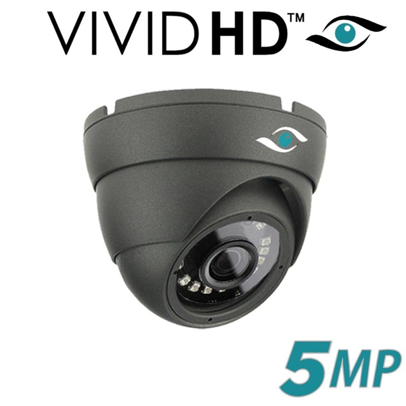 5MP DOME CCTV CAMERA 4 IN 1 TVI AHD CVI CVBS FULL HD IR 20M GREY