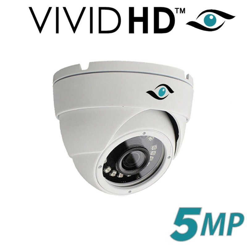 5MP DOME CCTV CAMERA 4 IN 1 TVI AHD CVI CVBS FULL HD IR 20M WHITE