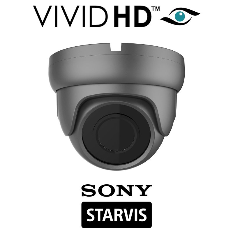 2.4 MP DOME CCTV CAMERA SONY STARVIS STARLIGHT 4 IN 1 COLOUR AT NIGHT GREY