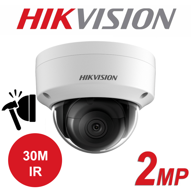 2MP HIKVISION OUTDOOR WDR FIXED DOME IP PoE CAMERA DS-2CD2123G0-I 4mm