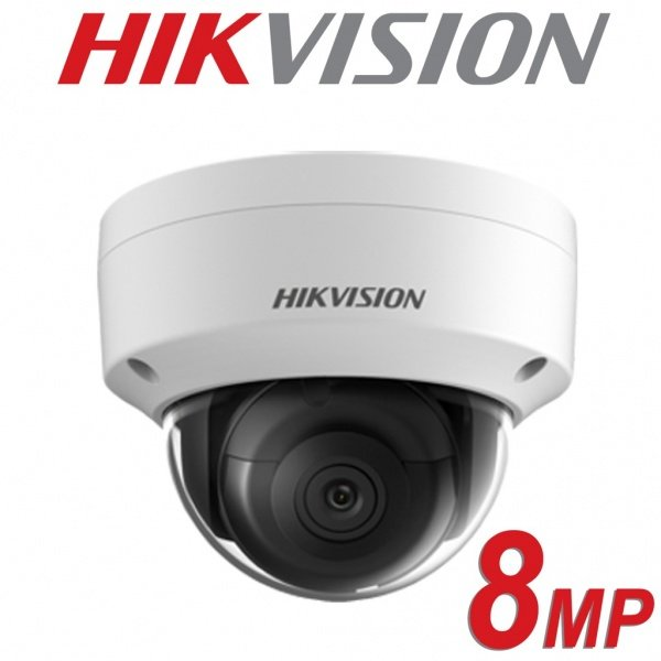 HIKVISION 8MP IP POE VANDAL DOME DS-2CD2185FWD-I FIXED LENS 2.8MM