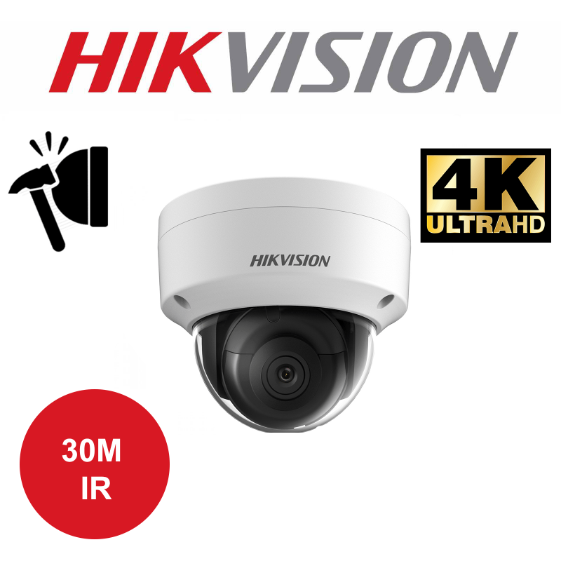 8MP HIKISION PRO EASY IP ULTRA HD 30M IR DOME CAMERA DS-2CD2185FWD-I-4MM