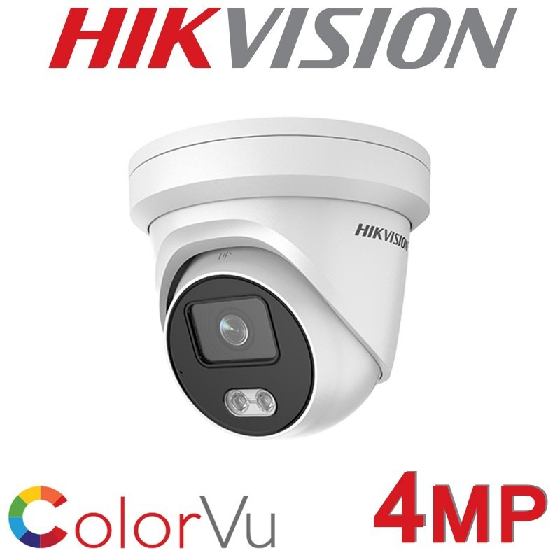 HIKVISION 4MP IP POE DOME COLORVU BUILT IN MIC COLOURVU WHITE DS-2CD2347G1-LU 2.8MM
