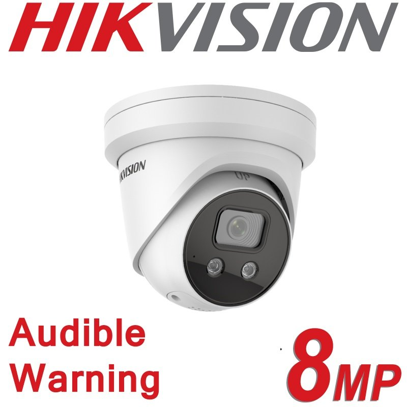 HIKVISION 8MP 4K IP POE 2 WAY AUDIO STROBE WARNING CAMERA DS-2CD2386G2-ISU/SL