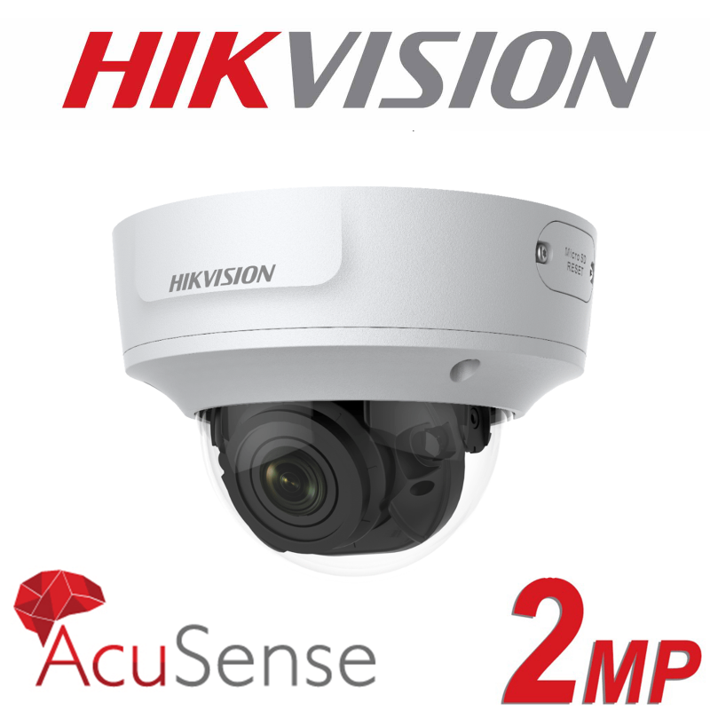 2MP HIKVISION ACUSENSE VARIFOCAL 2.8-12MM 30M IR DOME IP PoE CAMERA DS-2CD2726G1-IZS
