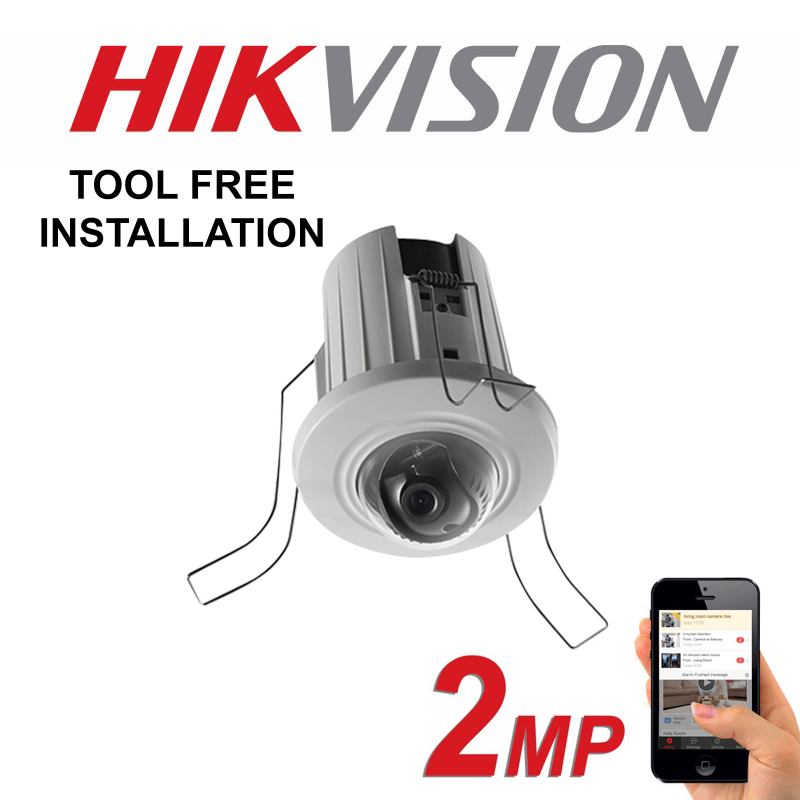 2MP 1080P HIKVISION IP PoE RECESSED HD MOUNT DOME CAMERA DS-2CD2E20F 6MM