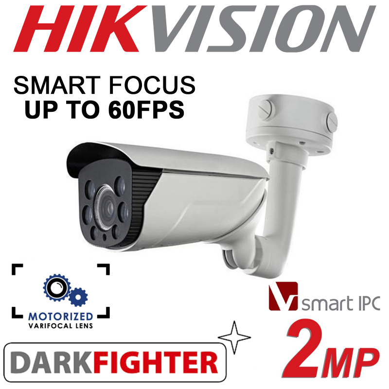 2MP HIKVISION DARKFIGHTER SMART IPC 70M IR HD LOW LIGHT CAMERA DS-2CD4626FWD-IZ-2.8-12MM