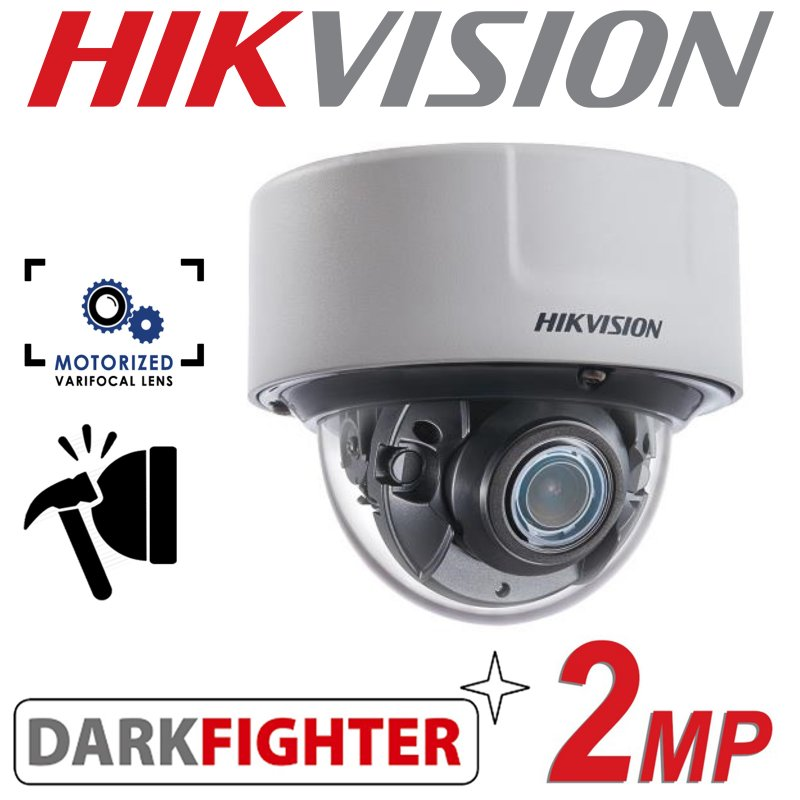 2MP HIKVISION DARKFIGHTER INDOOR IP PoE MOTO VARIFOCAL DOME CAMERA DS-2CD5126G0-IZS 2.8-12mm