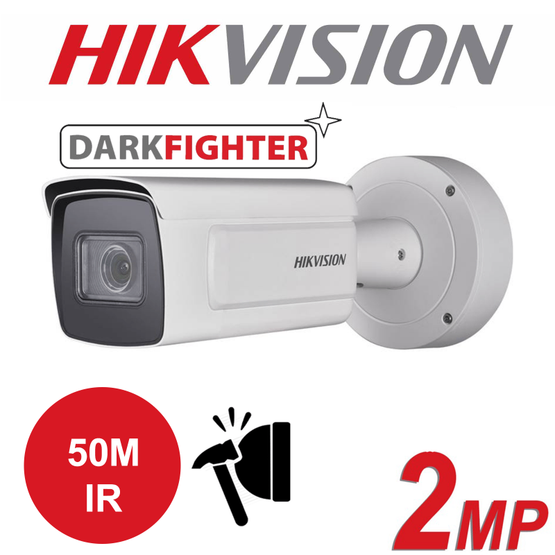 2MP HIKVISION DARKFIGHTER IP PoE MOTO VARIFOCAL LENS BULLET CAMERA DS-2CD5A26G0-IZHS 2.8-12MM