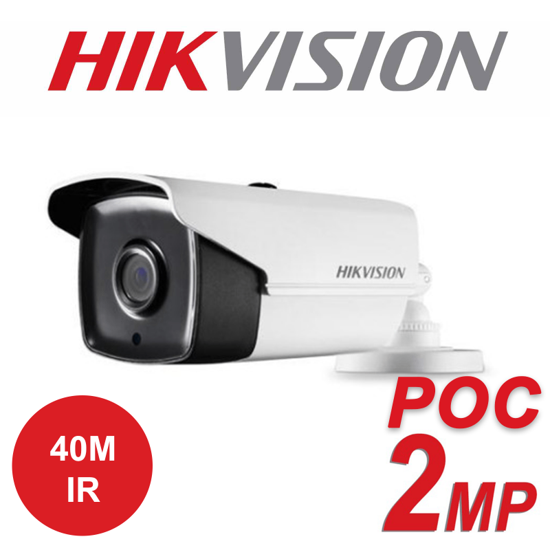 2MP HIKVISION ULTRA LOW LIGHT PoC FIXED BULLET CAMERA DS-2CE16D8T-IT3E-3.6MM