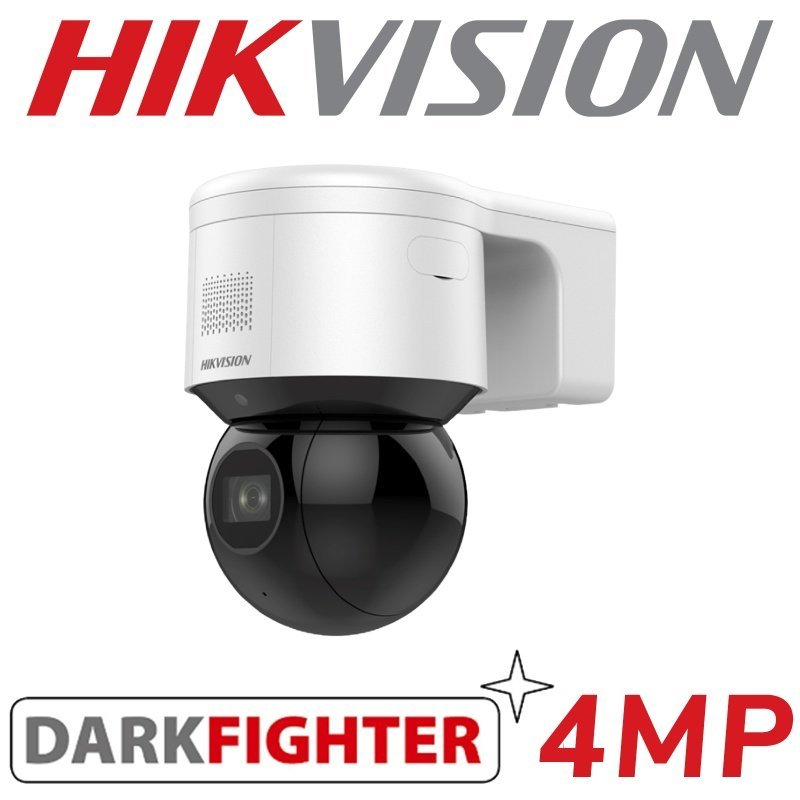 4MP HIKVISION DARK FIGHTER MINI PTZ WIFI 2 WAY AUDIO DS-2DE3A404IW-DE/W