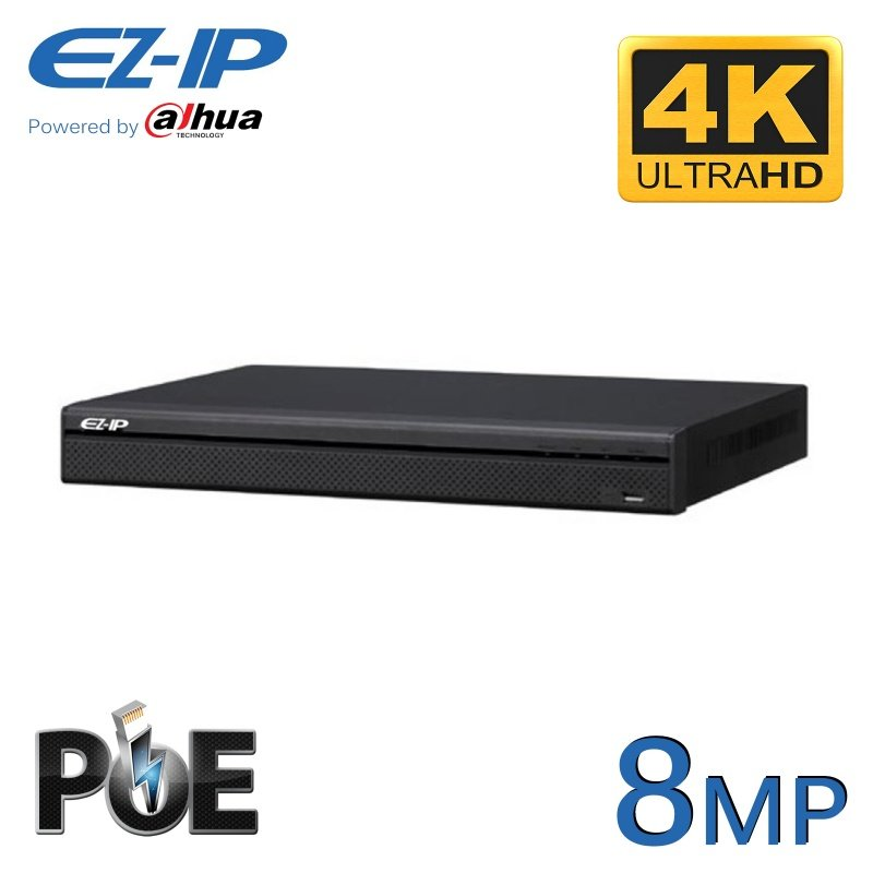 16CH EZ-IP 8MP 4K NVR POWERED BY DAHUA