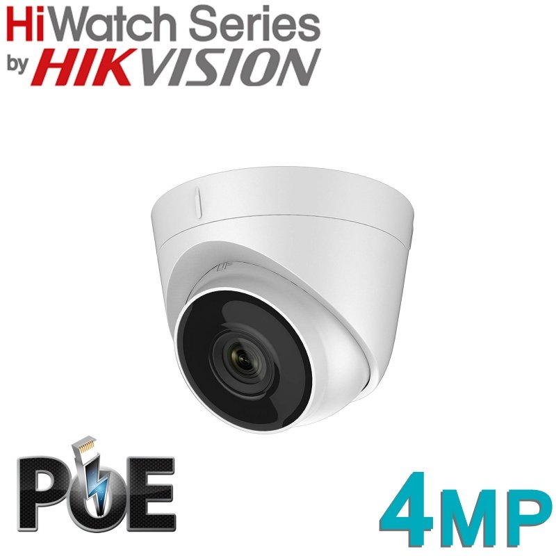 HIKVISION HIWATCH DOME 4MP IP POE DOME IPC-T140 FIXED LENS 2.8MM