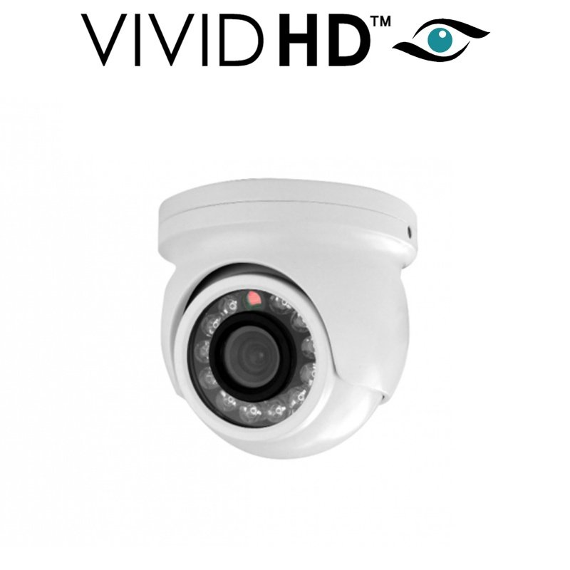2.4MP VIVID HD MINI DOME CCTV CAMERA FULL HD SPY COVERT WHITE