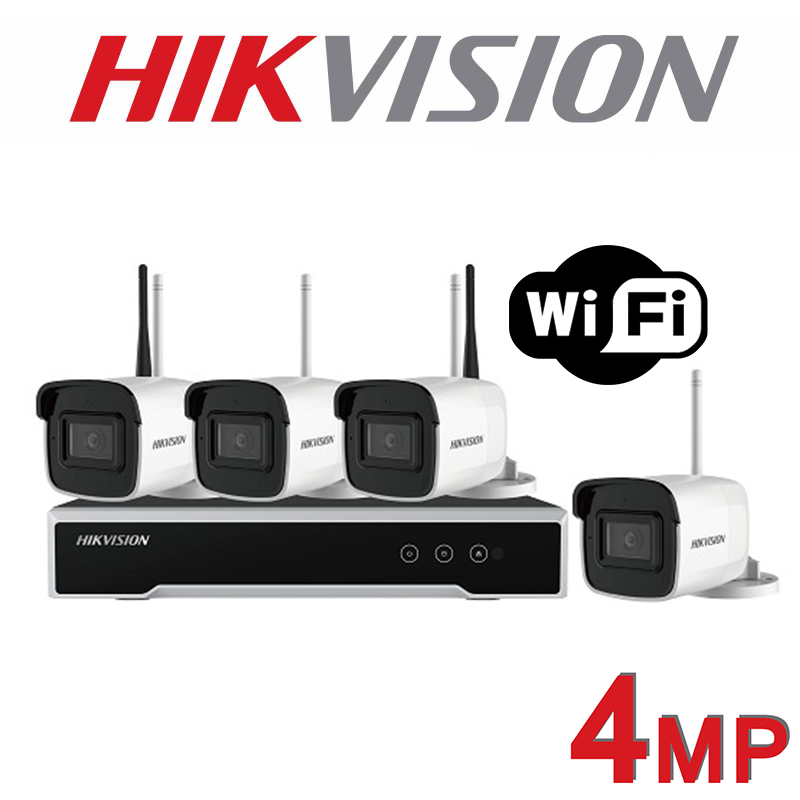 4MP HIKVISION BULLET 30M IR WIRELESS WIFI KIT NK44W0H-1T-2.8MM