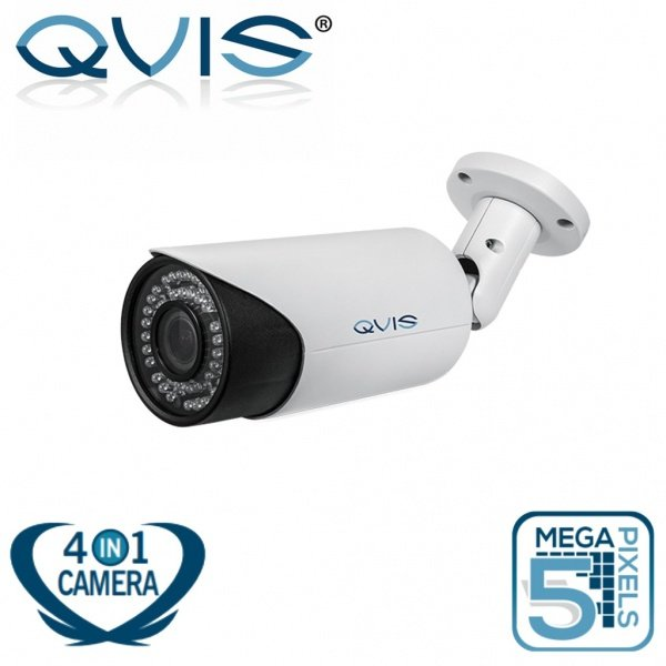 QVIS 5MP CCTV BULLET CAMERA OUTDOOR 50M IR NIGHT VISION 3.6MM TVI CVI AHD CVBS WHITE