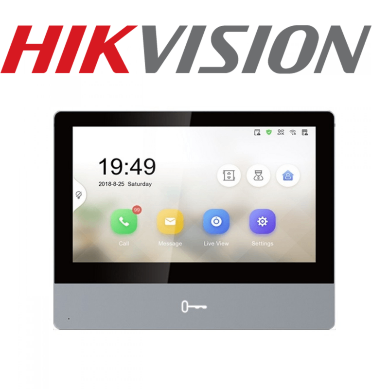 HIKVISION Video Intercom Ultra Indoor Station with 7-Inch Touch Screen ds-kh8350-wte1