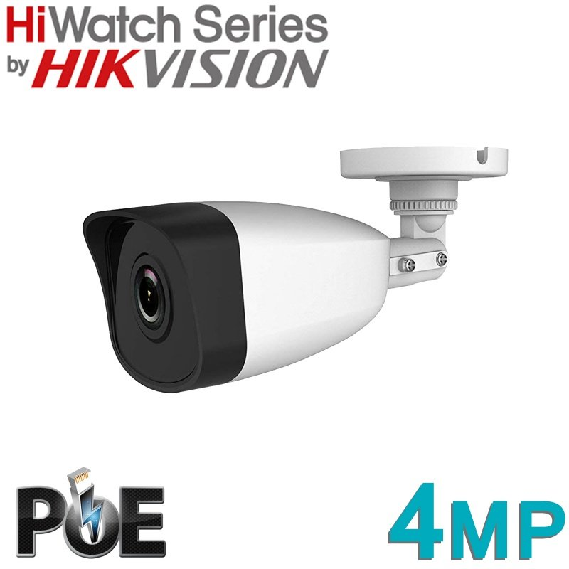 HIKVISION HIWATCH BULLET 4MP IP POE IPC-B140 FIXED LENS 2.8MM