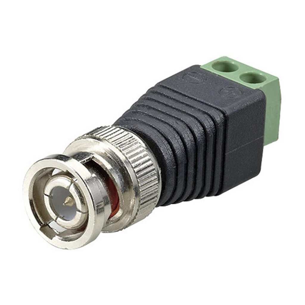 CCTV SCREW TERMINAL TO BNC MALE VIDEO BALUN OVER CAT 5
