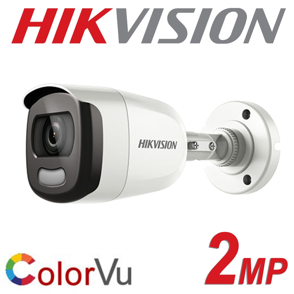 2MP HIKVISION COLORVU BULLET 3.6MM 20M EXIR 4 IN 1 COLOURVU DS-2CE10DFT-F