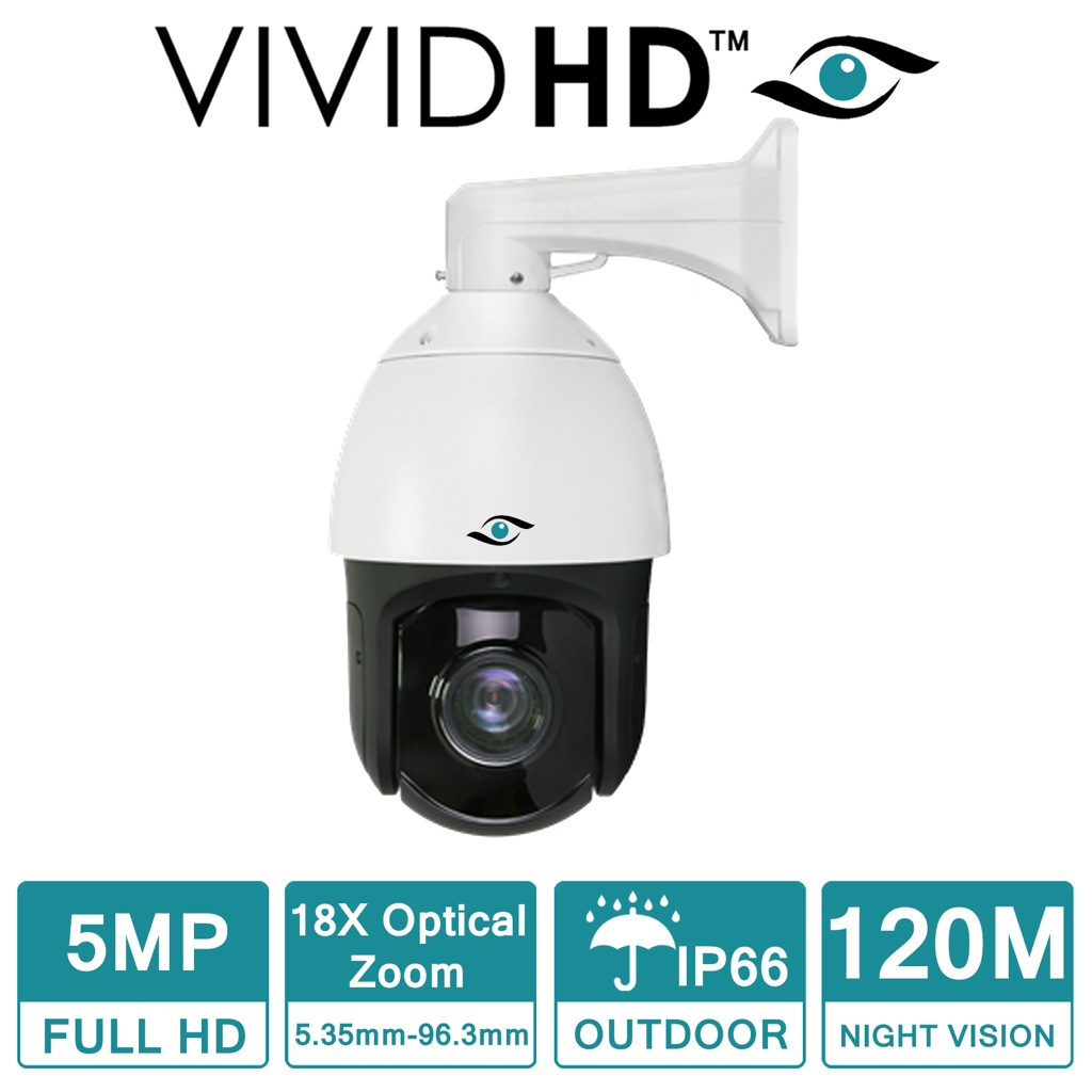 VIVID HD DOME PTZ SPEED 18X ZOOM 5MP