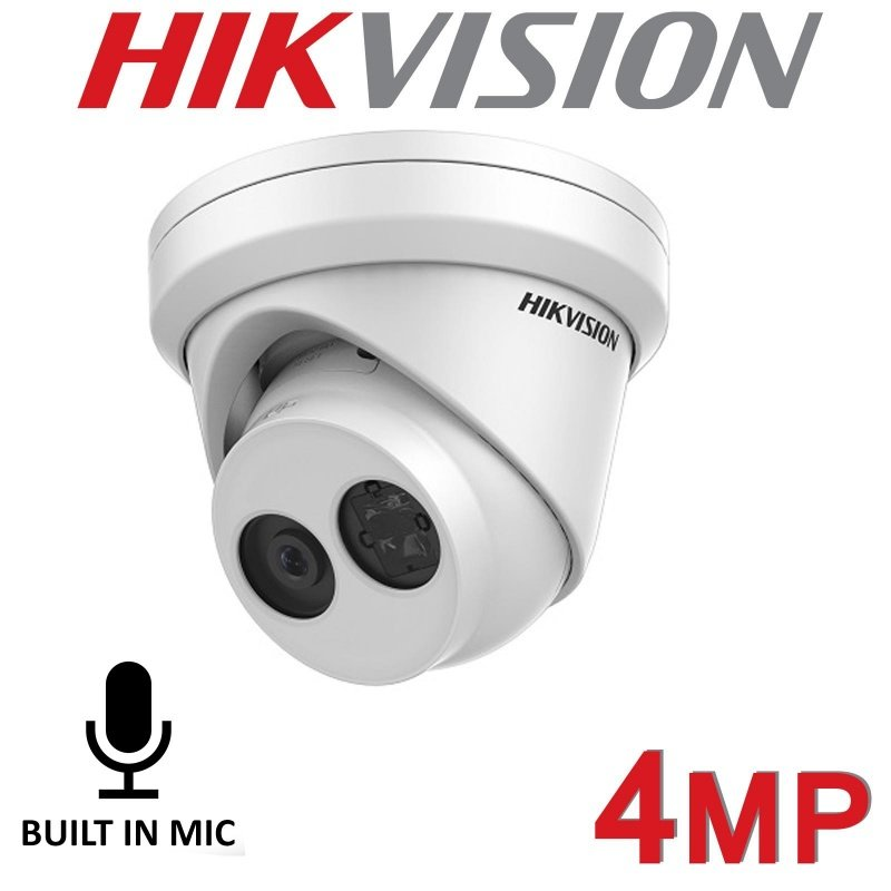 4MP HIKVISION IP POE TURRET HIKVISION MIC BUILT IN DS-2CD2343G0-IU 2.8MM