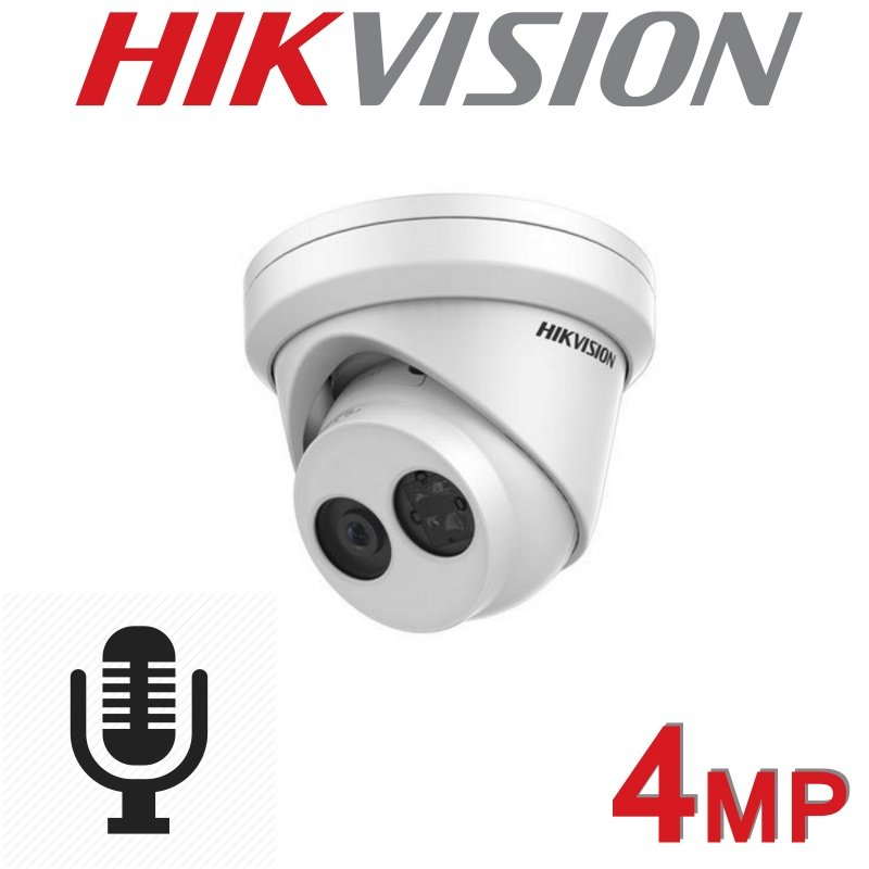 HIKVISION 4MP IP POE TURRET BUILT IN MIC DS-2CD2343G0-IU 2.8MM