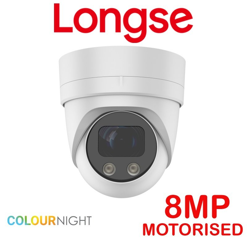 8MP 5MP LONGSE COLOR AT NIGHT CCTV CAMERA TURRET MOTORISED CMLAHTC5005XESLW