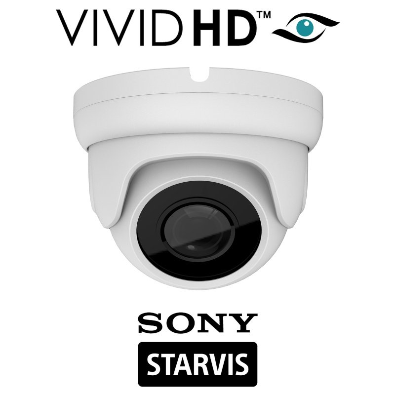 2 4 MP DOME CCTV CAMERA SONY STARVIS STARLIGHT 4 IN 1 COLOUR AT NIGHT WHITE