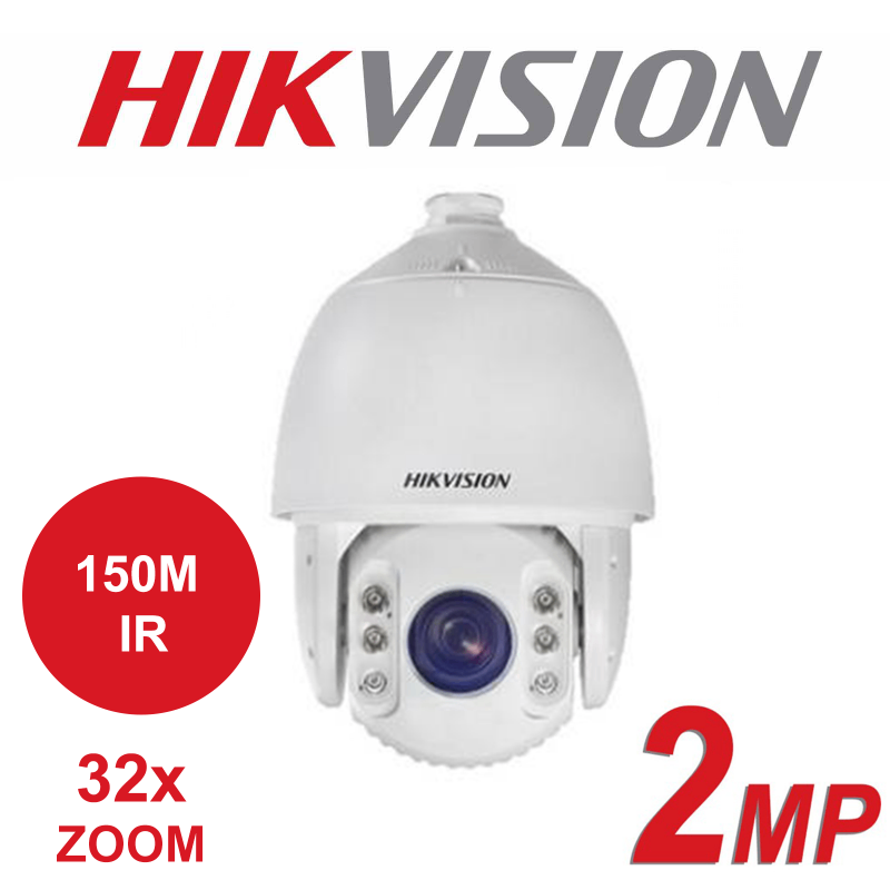 2MP HIKVISION TURBO 32x ZOOM 150M 1R 7-INCH SPEED DOME PTZ DS-2AE7232TI-AC