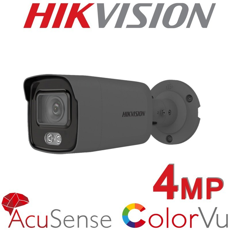 4MP HIKVISION COLORVU ACUSENSE BULLET INC MIC DS-2CD2047G2-LU 2.8MM GREY