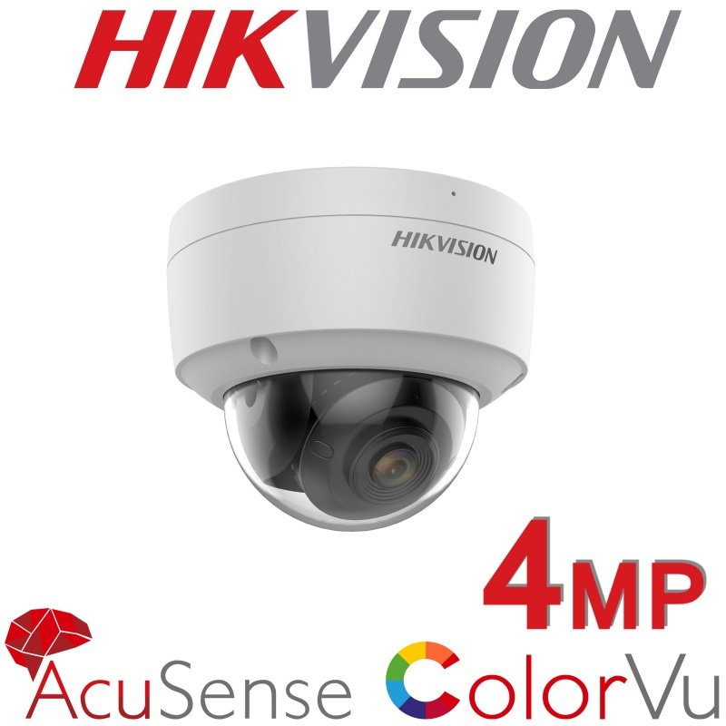 4MP HIKVISION VANDAL DOME COLORVU ACUSES IP POE DS-2CD2147G2-SU 2.8MM