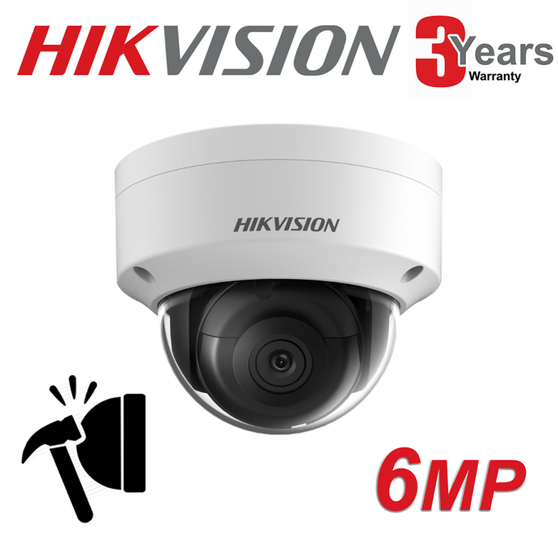 6MP HIKVISION IP PoE DARKFIGHTER 30M DOME CAMERA DS-2CD2165G0-IS 2.8MM