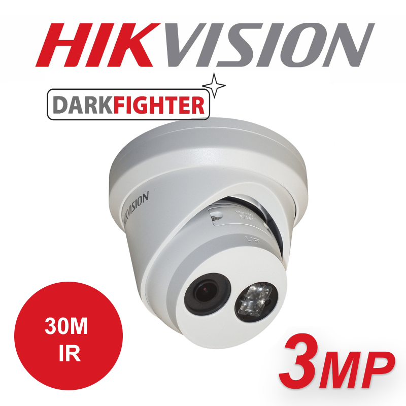 3MP HIKVISION DARKFIGHTER ULTRA LOW LIGHT 30M IR IP PoE TURRET CAMERA DS-2CD2335FWD-I-4MM