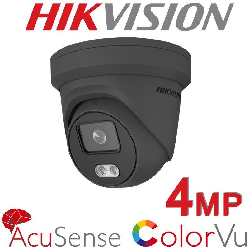 4MP HIKVISION IP POE DOME COLORVU BUILT IN MIC COLOURVU GREY DS-2CD2347G2-LU 2.8MM