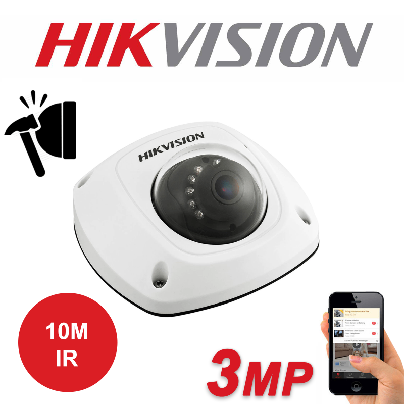 3MP HIKVISION ULTRA LOW LIGHT 120dB WDR IP PoE 10M IR DOME CAMERA DS-2CD2535FWD-IWS 2.8mm