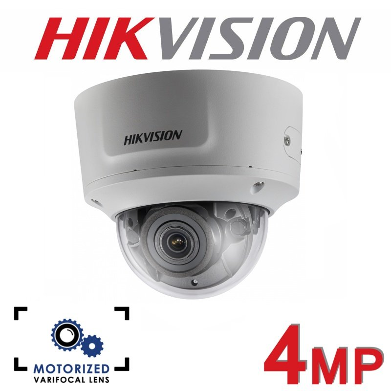 4MP HIKVISION MOTORISED VARIFOCAL 2.8-12MM 30M IR IP PoE DOME CAMERA DS-2CD2743G0-IZS GRADED ITEM