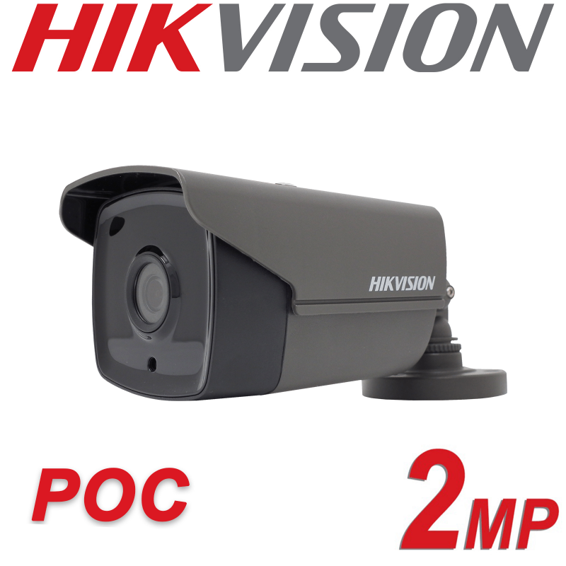 2MP HIKVISION ULTRA LOW LIGHT 2.8MM PoC FIXED BULLET CAMERA DS-2CE16D8T-IT3E-2.8MM-GREY