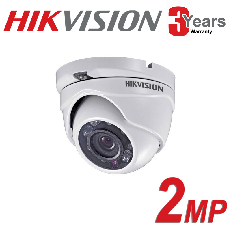 2MP HIKVISION DOME TURRET TURBO HD DS-2CE56D0T-IRMF 3.6mm GRADED